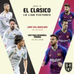 La Liga 2018/19 fixtures and El Clasico dates confirmed